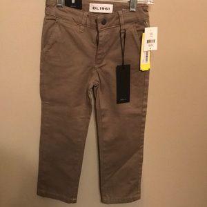 NWT Boys Size 4 DL 1961 Slim Chino Denim Pants